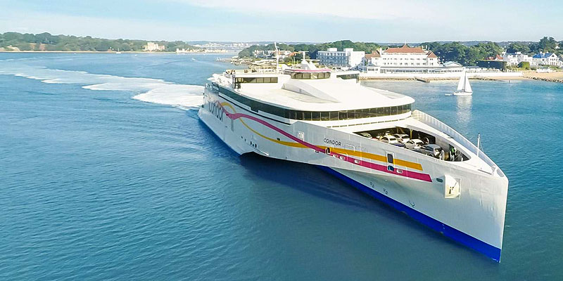 Travel to Guernsey by sea Condor Ferries.