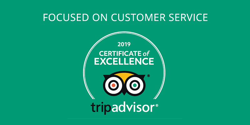 TripAdvisor certificate of excellence.
